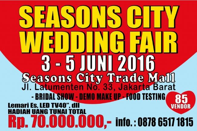 Seasons City Wedding Fair 3-5 Juni 2016