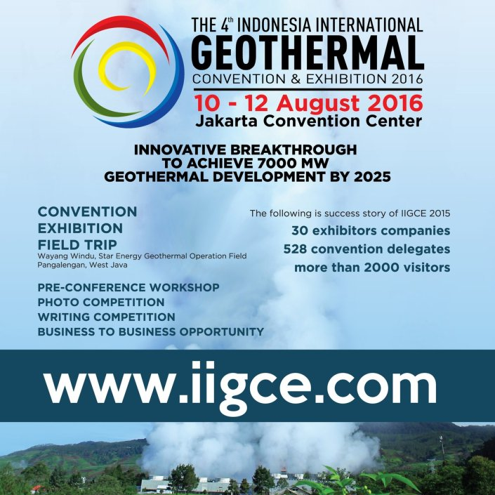 The 4th Indonesia International Geothermal Convention and Exhibition (IIGCE) 2016