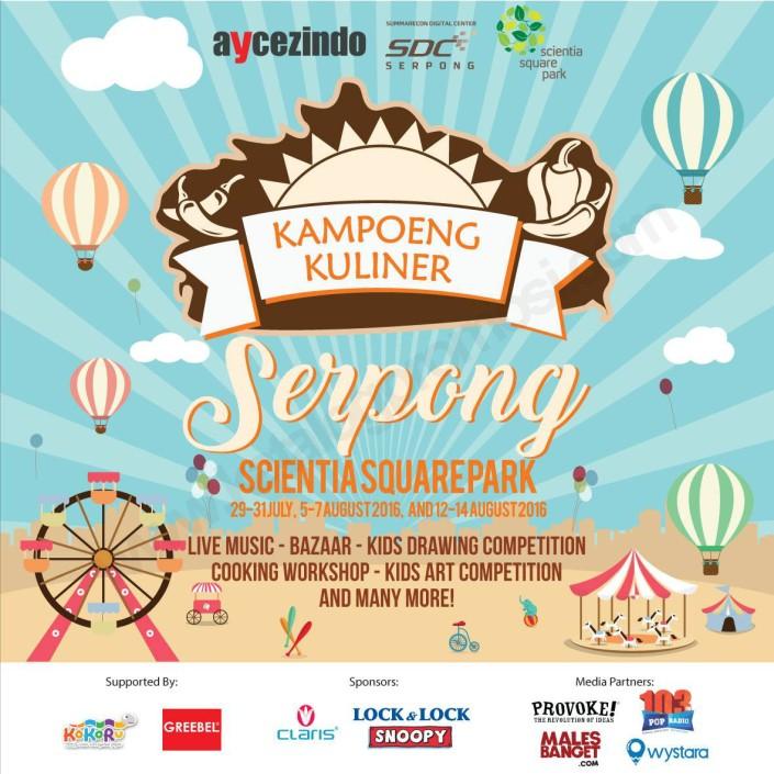 Festival Kampoeng Kuliner Serpong di Scientia Square Park 2016