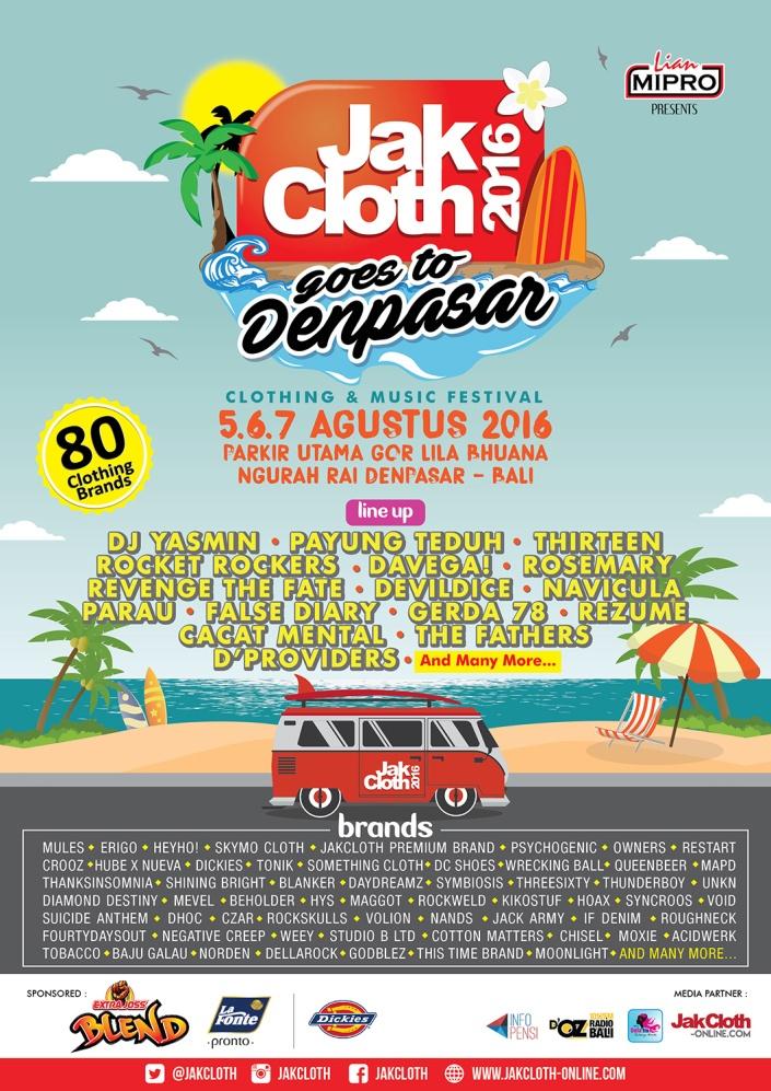 Jakcloth Goes To Denpasar Agustus 2016