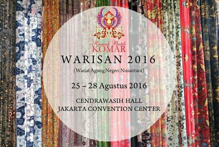 Pameran Warisan (Wasiat Agung Negeri Nusantara) 2016