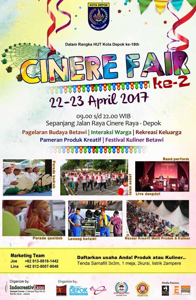 Cinere Fair 22 23 April Rossrightangle