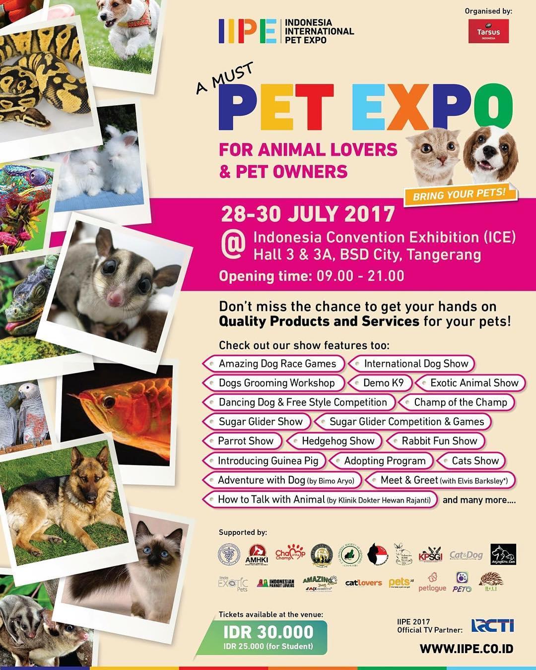 Indonesia International Pet Expo Iipe 2017 Informasi Pameran Event Dan Bazaar Indonesia