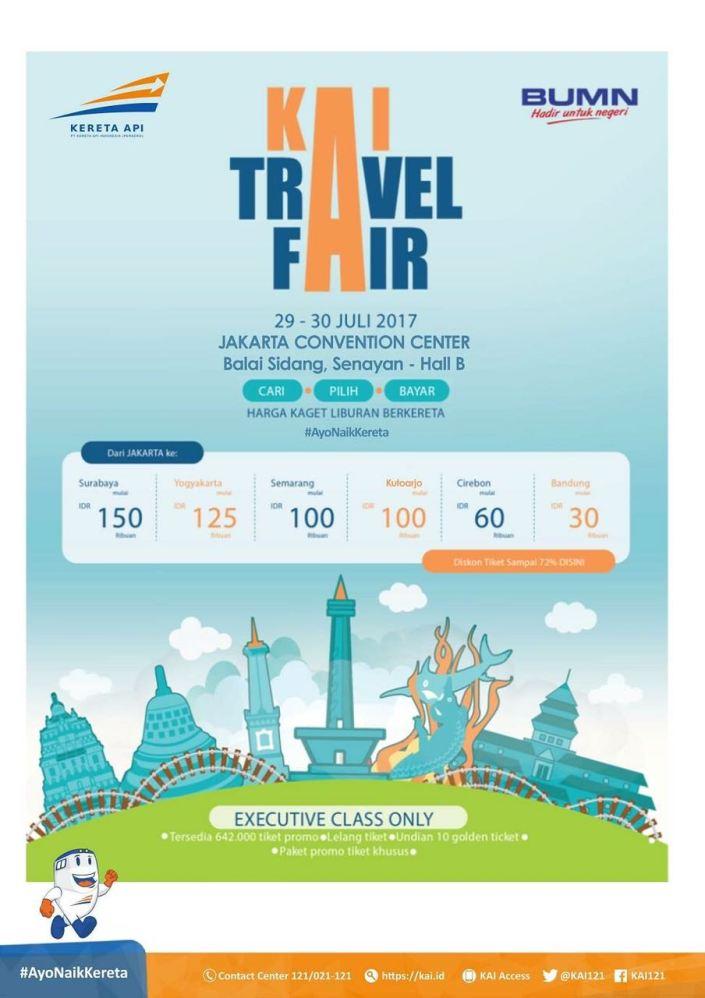 Le green pt kereta api indonesia pt kai will hold kai travel fair ka tf 2017 for two days on 29 30 july 2017 at the jakarta convention center reheart Choice Image