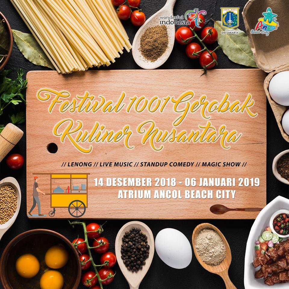 Festival 1001 Gerobak Kuliner Nusantara 2018 Informasi